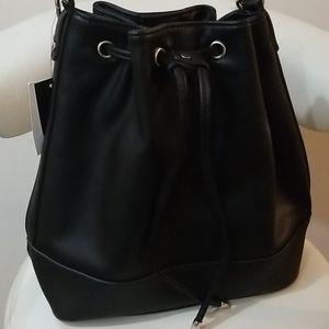 Vegan Leather Fashion Bucket Handbag